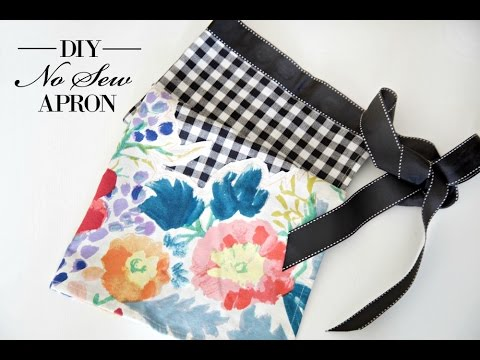 DIY No Sew Apron