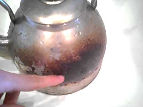 Cleaning a tea kettle part 1