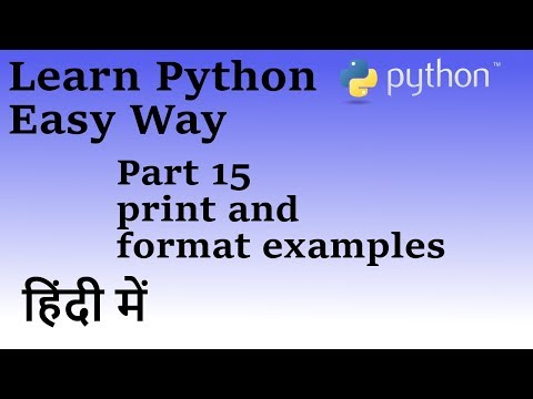 Learn Python in Hindi Part 15 (Print and Format)