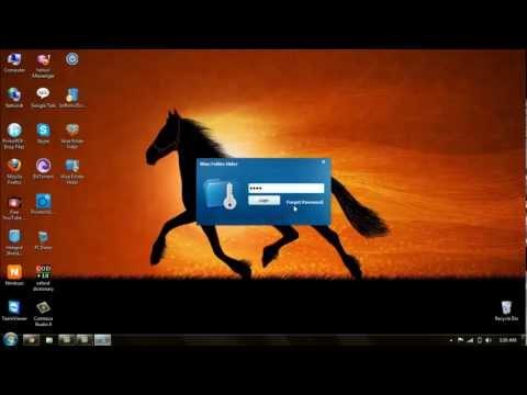 Folder lock using password