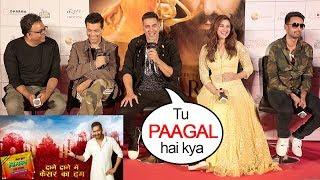 Akshay Kumar's FUNNIEST Reaction to Reporter Comparing His Kesari movie to Ajay Devgan's Kesar Ad