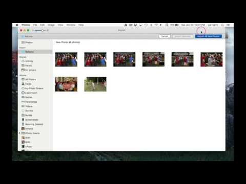 MAC: IMPORTING PHOTOS AND CREATING ALBUMS