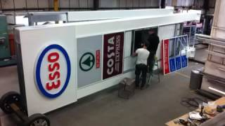 Building a pole sign. For esso.