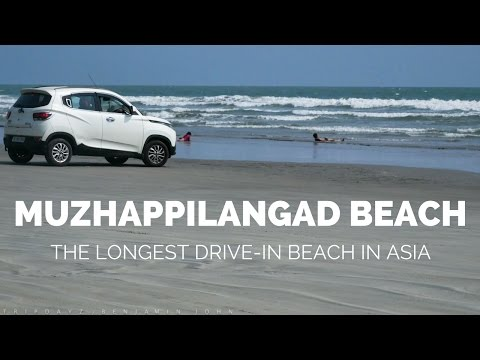 Drive In beach kerala - Malabar coast - Muzhappilangad Drive-in Beach- Longest one in Asia