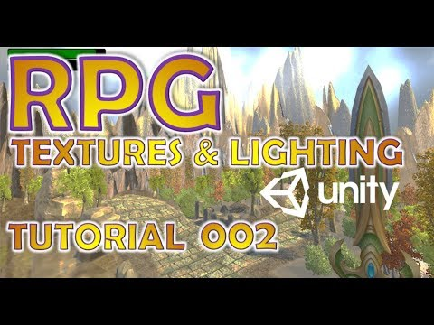 How To Make An RPG In Unity - Beginners Tutorial - Part 002 - Textures, Light