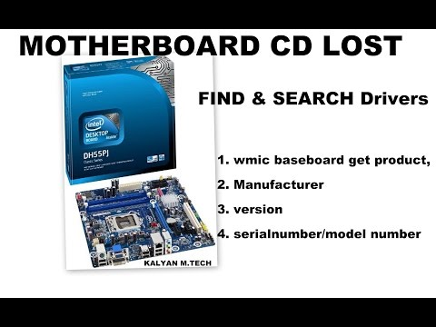 Motherboard cd lost Find/Search model number/drivers Tutorial Excellent, Telugu