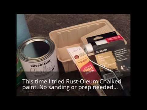 Chalk painting kitchen cabinets