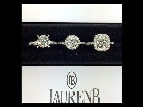 Round Diamond Engagement Ring Styles: Non-halo, Halo and Cushion Halo