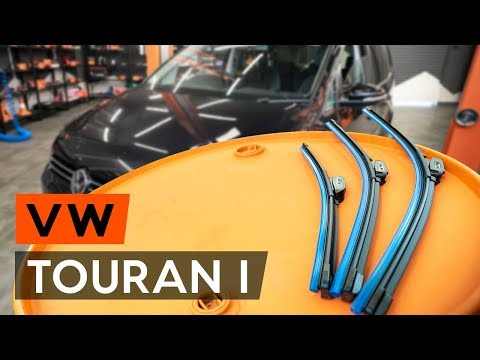 How to replacefront wipers blades/ front window wipers VW TOURAN 1 (1T3) [TUTORIAL AUTODOC]