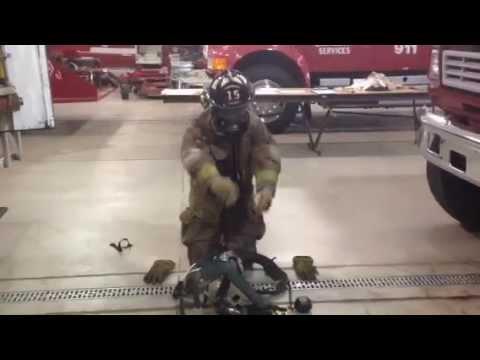 Firefighter gets ready in 30 seconds