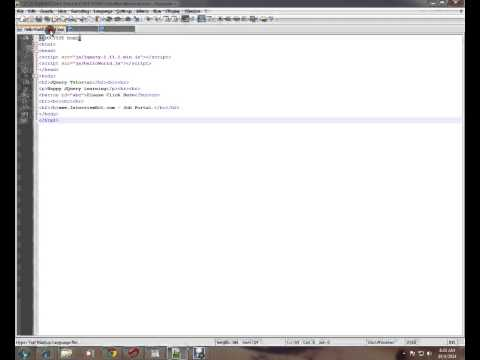 HOW TO PUT JQUERY CODE IN EXTERNAL  JS FILE