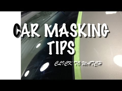 DIY Car Paint Job Masking  Tips-  How To Mask Windshield Molding To Prevent Bridging or Hard Edges