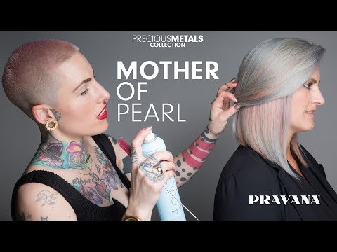 Mother of Pearl Hair Painting How-To with PRAVANA's Presley Poe