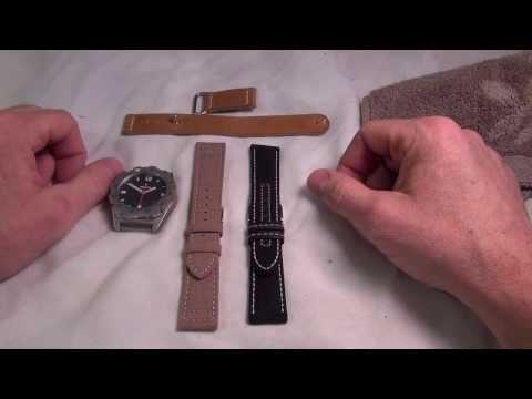 Comparison: Kevlar strap vs. Cordura strap.