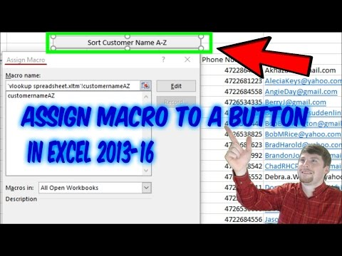 How To Add A Macro To A Button In Excel 2016