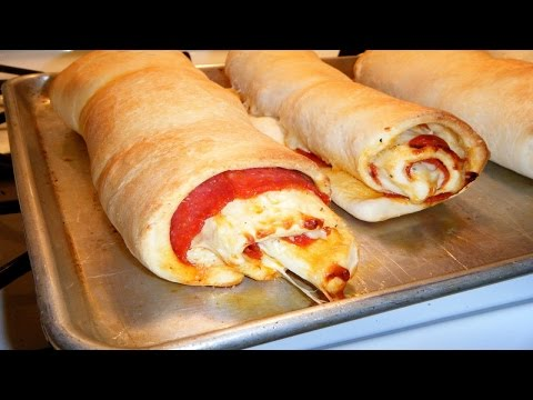 French pizza rolls recipe | Making french bread pizza