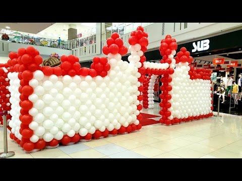 Creative Balloon Resources Ep 41: Castle & Princess Balloon Decoration AEON Ipoh Station 18