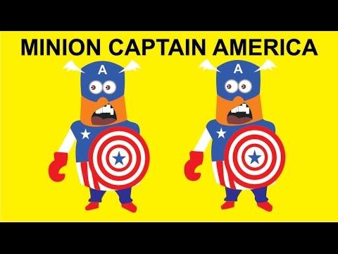 Minions Captain America 2D - Vector CorelDraw