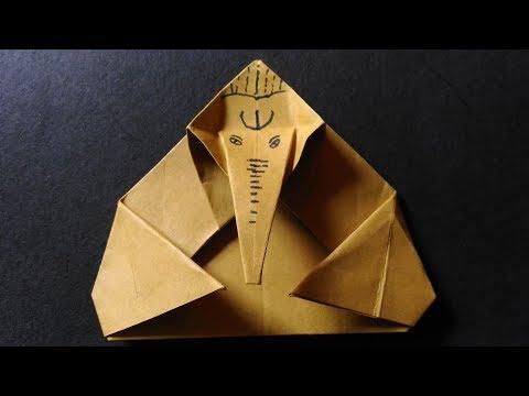 How To Make Origami Paper Ganesh | Ganpati | No Cut | Only Folds | Eco Friendly Ganesha