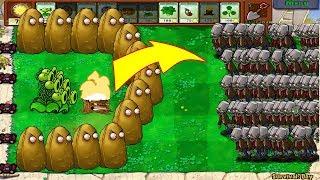 Plants Vs Zombies - 1 Threepeater vs 9999 Giga-Gagantuar
