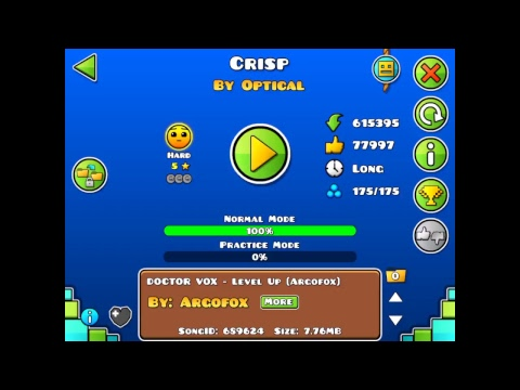 Geometry Dash star grinding trying to get to 800 stars(lvl req on)
