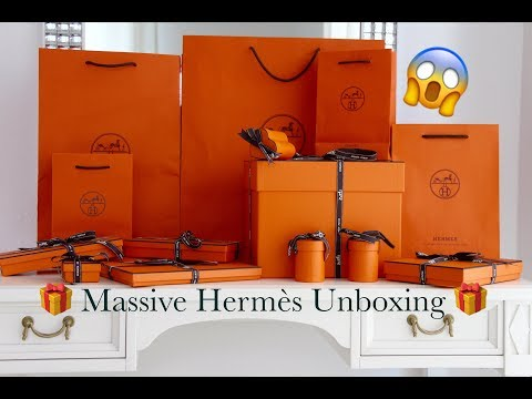 Massive Hermes Unboxing   New Hermès Accessories Release   Picotin Lock 18 Bag   Rodeo   Twillies