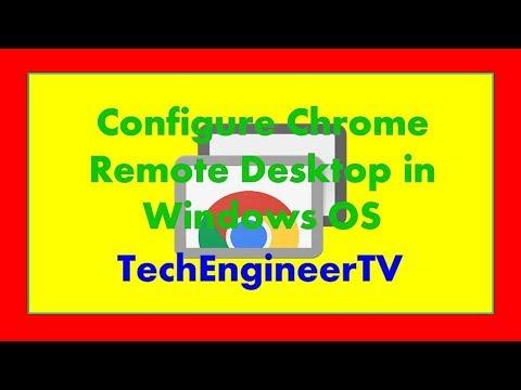 Configure Chrome Remote Desktop in Windows OS