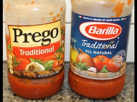 Prego vs. Barilla: Blind Taste Test