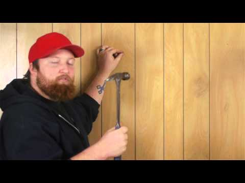Hanging Picture Frames: How to Hang Pictures on Wood Panel Walls : Woodwork & Carpentry