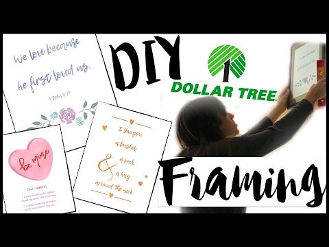 DIY DOLLAR TREE FRAMING + FREE PRINTABLES! DIY COLLAGE WALL!