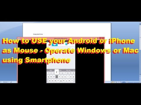 How to USE your Android or iPhone as Mouse to Operate Windows or Mac using Smartphone [100% Working]