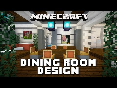 Minecraft Tutorial:  How To Make Dining Room Furniture    (Modern House Build Ep. 19)
