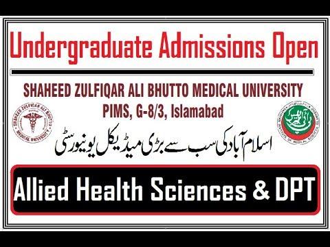 Undergraduate Admissions Open in Shaheed Zulfiqar Ali Bhutto Medical University Islamabad