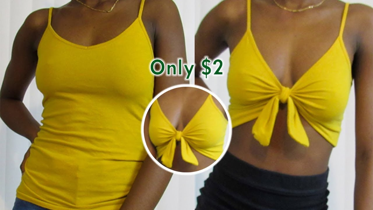 DIY: KNOTTED CROP TOP! Only $2