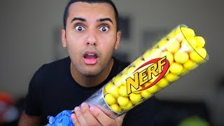 STRONGEST NERF RIVAL GUN OF ALL TIME!!! SHOTGUN MOD!! (SHOOTS 100 DARTS) *INSANELY DANGEROUS*