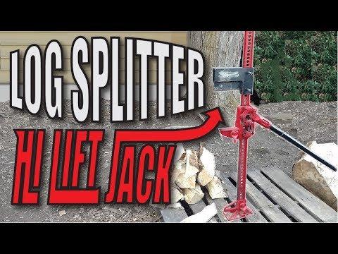 Hi Lift Jack Log Splitter Build