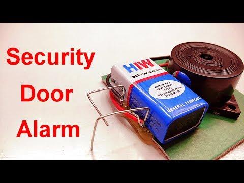 How to make simple door security alarm
