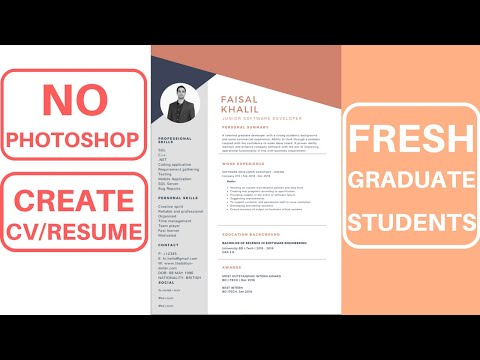 How to Create a Designed CV/Resume For Fresh Graduate Online | Canva
