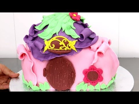 TINKERBELL House CAKE - How To by CakesStepbyStep