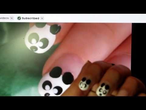 Day 4 of 31 days Challenge - Panda Nail Art