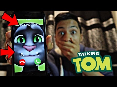 TALKING TOM CALLED ME AND I *ANSWERED OMG*