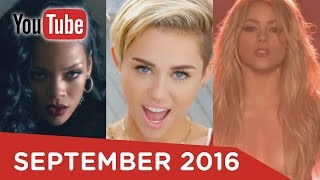 Top 100 Most Viewed Music Videos Of All Time - YouTube (September 2016)