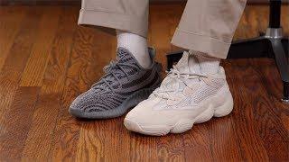 new styles 0122c 623ab Adidas Yeezy 500 Blush On Feet – Fashionsneakers.club