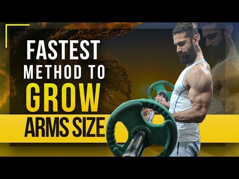 HOW TO GET BIGGER BICEPS (The Fastest Method) | Grow Weak Arms Size