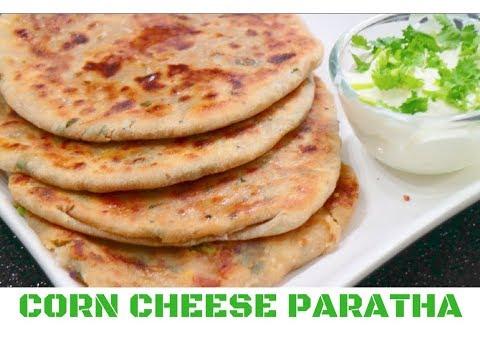 Corn, Capsicum & Cheese Paratha  | Easy, Healthy Tiffin Box Recipe - CurryfortheSoul