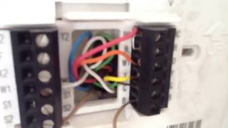 Heat Pump Operation Showed With Thermostat Wiring