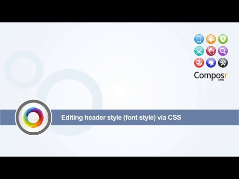 Editing header style (borders and font style) via CSS
