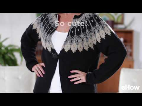 Transform a Pullover to Cardigan Sweater Jacket Tutorial