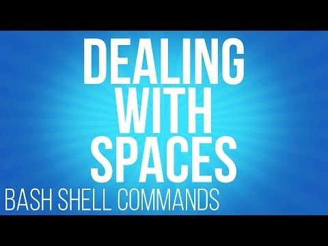 BASH Shell commands dealing with spaces commands for linux