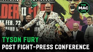 """Tyson Fury: """"Not bad for an old fat guy that can't punch, eh?""""   Post-Fight Presser"""